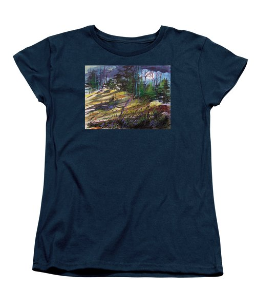 Women's T-Shirt (Standard Cut) featuring the painting Light Against Indigo by John Williams