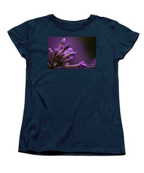 Women's T-Shirt (Standard Cut) featuring the photograph Lilac Spirals. by Clare Bambers