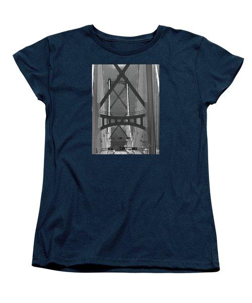 Women's T-Shirt (Standard Cut) featuring the photograph Lions Gate Bridge by John Schneider
