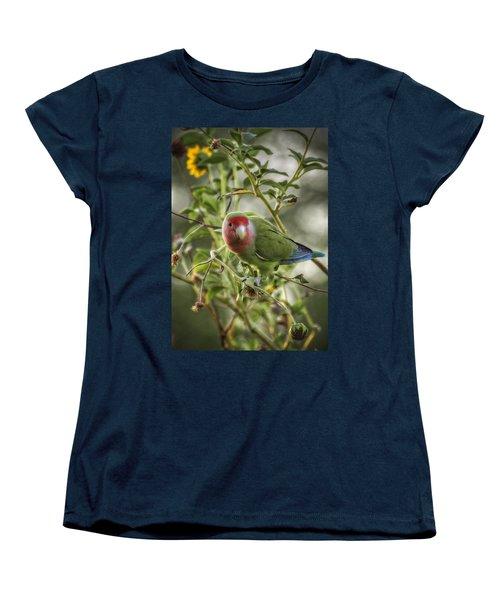 Lovely Little Lovebird Women's T-Shirt (Standard Cut) by Saija  Lehtonen