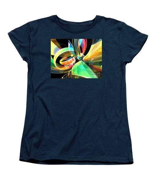 Women's T-Shirt (Standard Cut) featuring the digital art Magic Rings by Phil Perkins