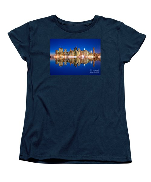Women's T-Shirt (Standard Cut) featuring the photograph Manhattan by Luciano Mortula