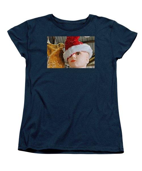 Women's T-Shirt (Standard Cut) featuring the photograph Manniquin Santa 2 by Bill Owen