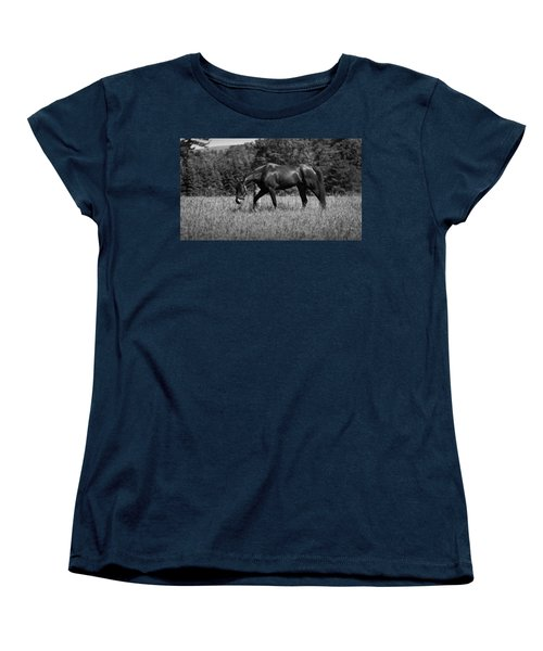 Women's T-Shirt (Standard Cut) featuring the photograph Mare In Field by Davandra Cribbie