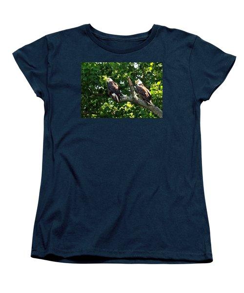 Women's T-Shirt (Standard Cut) featuring the photograph Mating Pair by Randall Branham