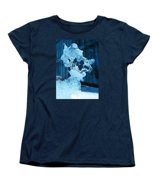 Women's T-Shirt (Standard Cut) featuring the photograph Meet The Ice Sculpture by Steve Taylor