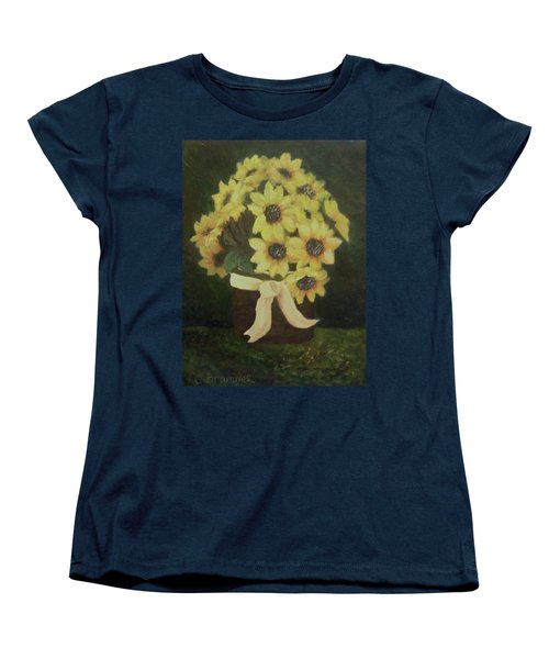 Women's T-Shirt (Standard Cut) featuring the painting Mom's Bouquet by Christy Saunders Church