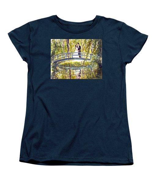 Women's T-Shirt (Standard Cut) featuring the painting Monet Wedding by Clara Sue Beym