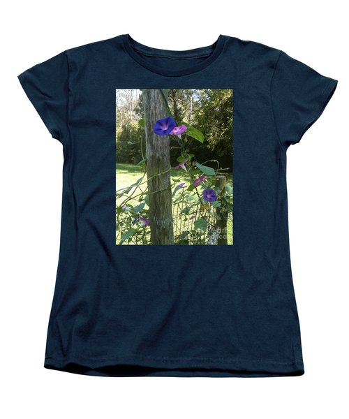 Women's T-Shirt (Standard Cut) featuring the photograph Morning Glory by Janice Spivey