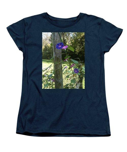 Morning Glory Women's T-Shirt (Standard Cut) by Janice Spivey