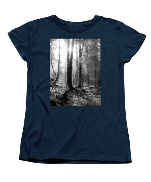 Women's T-Shirt (Standard Cut) featuring the photograph Morning Sun by Mary Almond