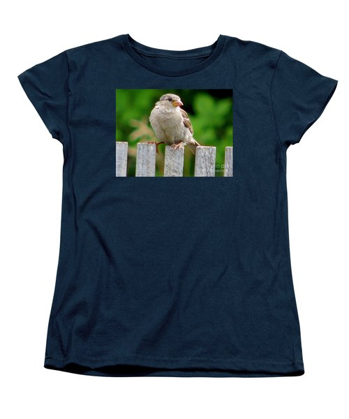 Women's T-Shirt (Standard Cut) featuring the photograph Morning Visitor by Rory Sagner