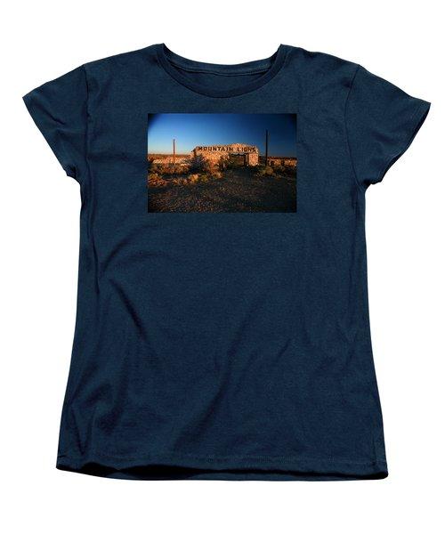 Women's T-Shirt (Standard Cut) featuring the photograph Mountain Lions At Two Guns by Lon Casler Bixby