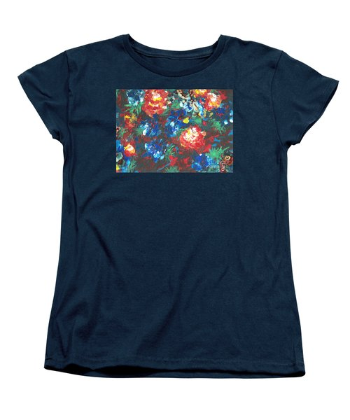 Women's T-Shirt (Standard Cut) featuring the painting My Sister's Garden II by Alys Caviness-Gober