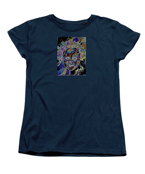 Women's T-Shirt (Standard Cut) featuring the drawing Mythic Mask by Nareeta Martin