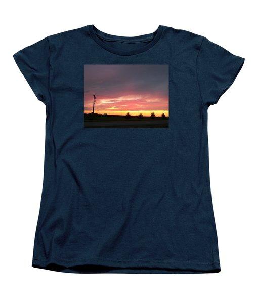 Nebraska Sunset Women's T-Shirt (Standard Cut) by Adam Cornelison