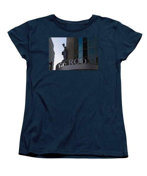 Women's T-Shirt (Standard Cut) featuring the photograph News Room by Stephanie Nuttall