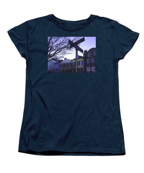 Women's T-Shirt (Standard Cut) featuring the photograph Night In Savannah by Andrea Anderegg