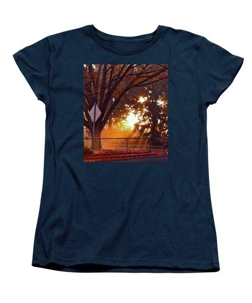 Women's T-Shirt (Standard Cut) featuring the photograph November Sunrise by Bill Owen
