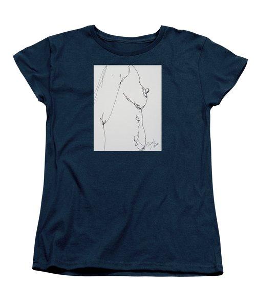 Nude Breast Study Women's T-Shirt (Standard Cut) by Rand Swift