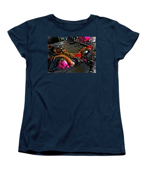 Women's T-Shirt (Standard Cut) featuring the photograph On Stage Literally by Mike Martin