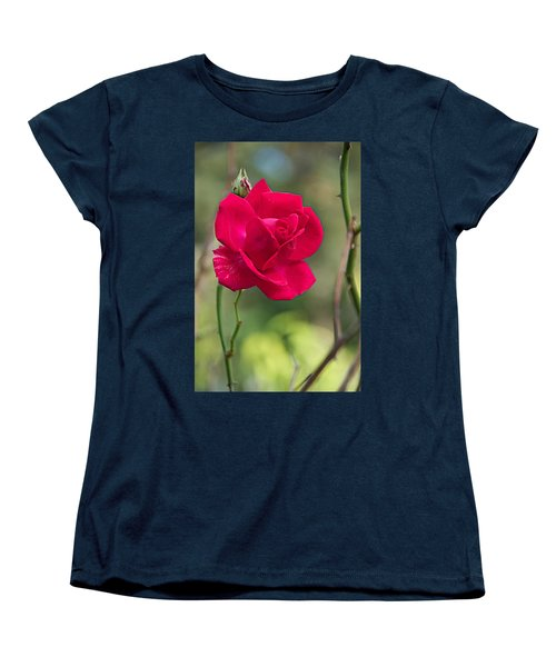 Women's T-Shirt (Standard Cut) featuring the photograph One Rose by Joseph Yarbrough