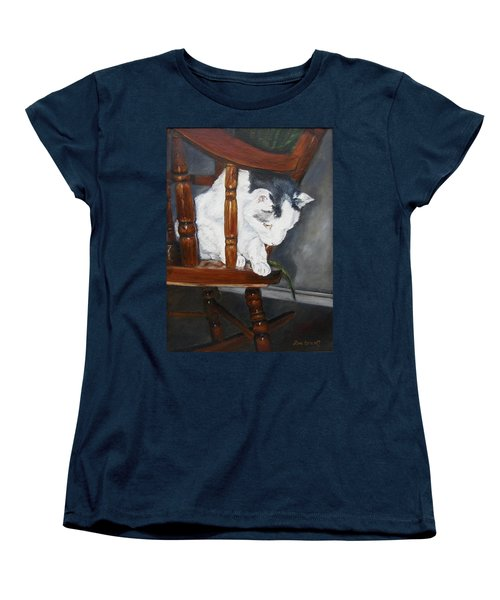 Women's T-Shirt (Standard Cut) featuring the painting Oops by Lori Brackett