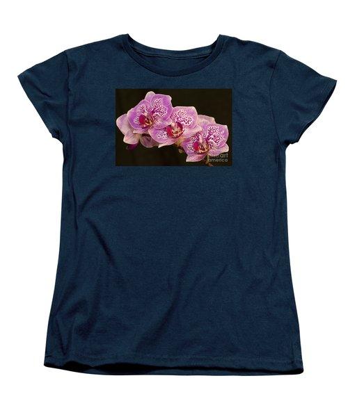 Orchids Women's T-Shirt (Standard Cut) by Eunice Gibb