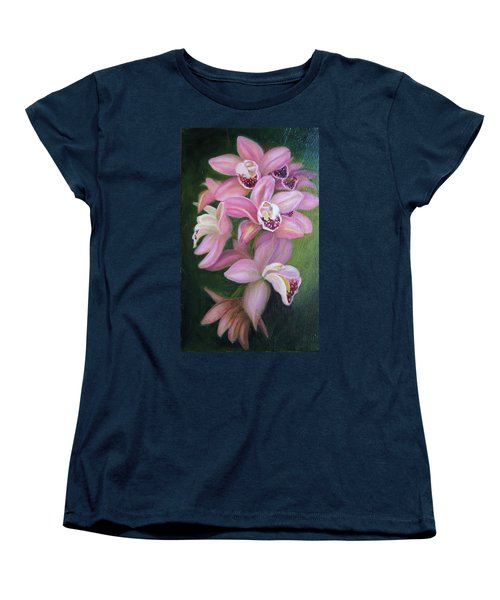 Women's T-Shirt (Standard Cut) featuring the painting Orchids by Marlyn Boyd