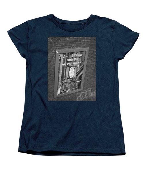 Owl And Thistle Irish Pub Women's T-Shirt (Standard Cut) by Kym Backland