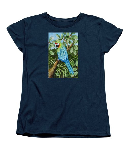 Parrot Women's T-Shirt (Standard Cut) by Katherine Young-Beck