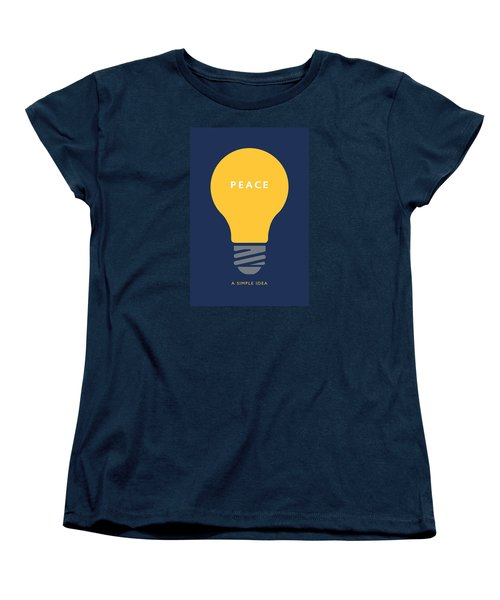 Peace A Simple Idea Women's T-Shirt (Standard Cut) by David Klaboe