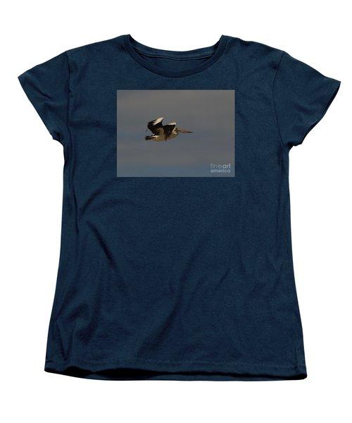 Women's T-Shirt (Standard Cut) featuring the photograph Pelican In Flight 3 by Blair Stuart