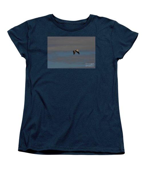 Women's T-Shirt (Standard Cut) featuring the photograph Pelican In Flight 4 by Blair Stuart