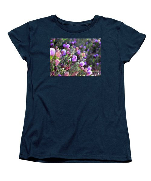 Women's T-Shirt (Standard Cut) featuring the photograph Pink Fuzzy Balls by Clayton Bruster