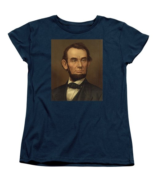 Women's T-Shirt (Standard Cut) featuring the photograph President Of The United States Of America - Abraham Lincoln  by International  Images