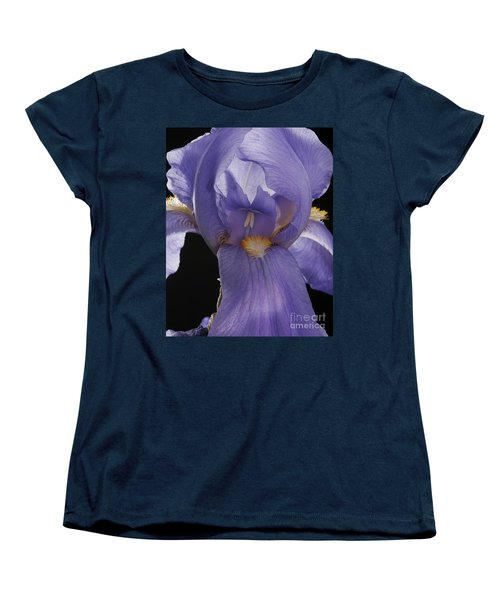 Women's T-Shirt (Standard Cut) featuring the photograph Purple Iris by Art Whitton
