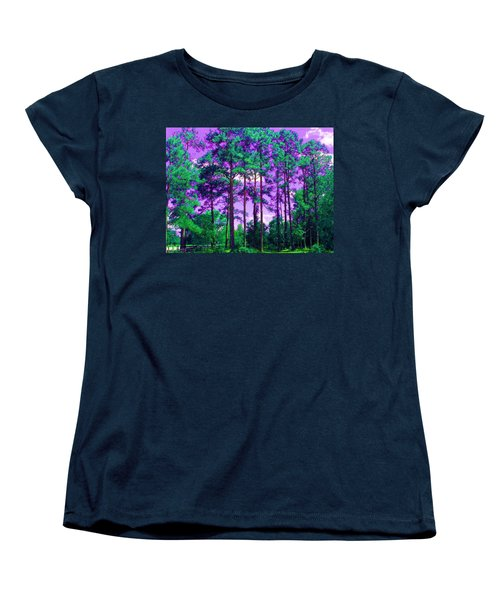 Women's T-Shirt (Standard Cut) featuring the photograph Purple Sky by George Pedro