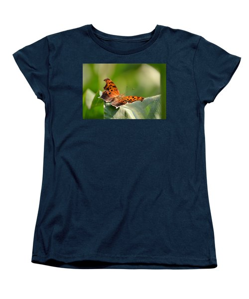 Women's T-Shirt (Standard Cut) featuring the photograph Question Mark Butterfly by JD Grimes