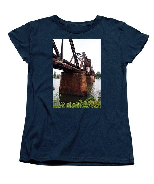Women's T-Shirt (Standard Cut) featuring the photograph Railroad Bridge 1 by Kay Lovingood