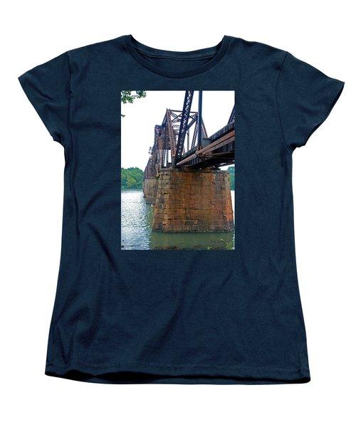 Women's T-Shirt (Standard Cut) featuring the photograph Railroad Bridge 2 by Kay Lovingood