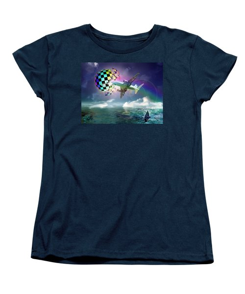 Rainbow Set Free Women's T-Shirt (Standard Cut) by Rosa Cobos