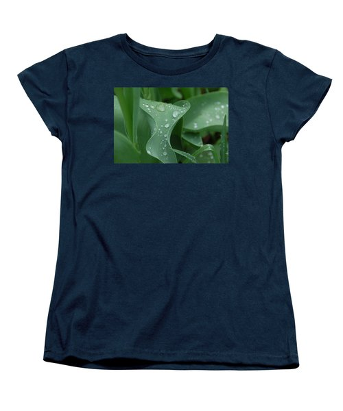 Women's T-Shirt (Standard Cut) featuring the photograph Raindrops by Aimee L Maher Photography and Art Visit ALMGallerydotcom