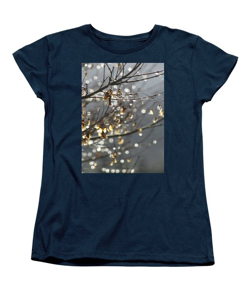 Raindrops And Leaves Women's T-Shirt (Standard Cut) by Katie Wing Vigil