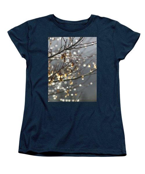 Raindrops And Leaves Women's T-Shirt (Standard Cut)