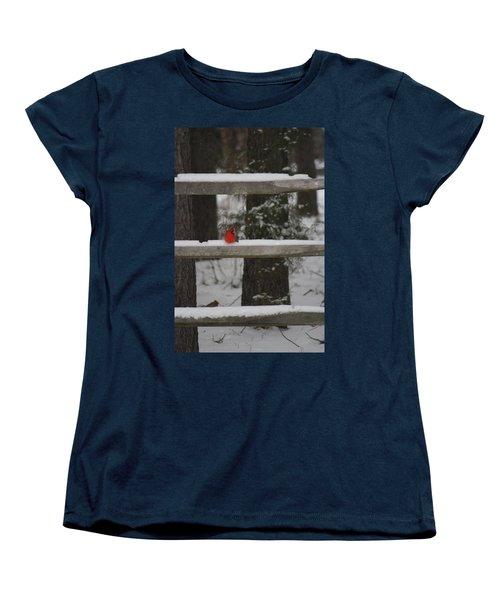 Women's T-Shirt (Standard Cut) featuring the photograph Red Bird by Stacy C Bottoms