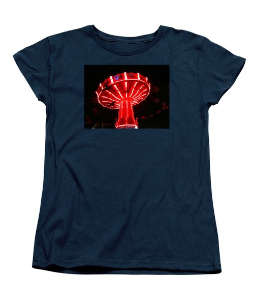 Women's T-Shirt (Standard Cut) featuring the photograph Red Ride Is Wild by Kym Backland