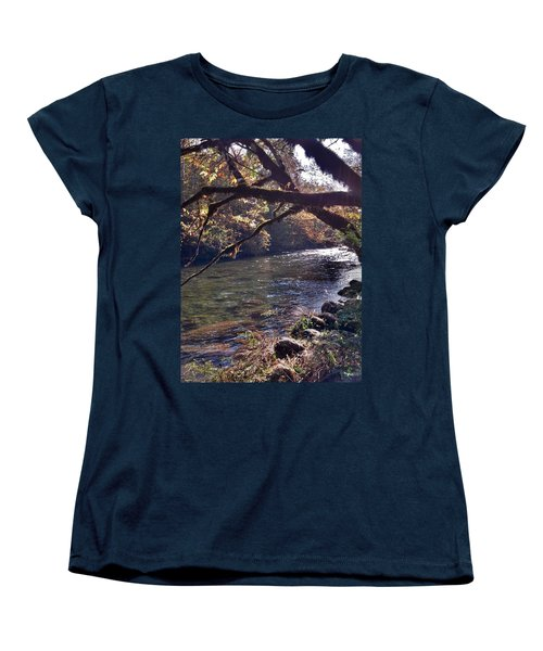 Women's T-Shirt (Standard Cut) featuring the photograph Rivee View by Janice Spivey