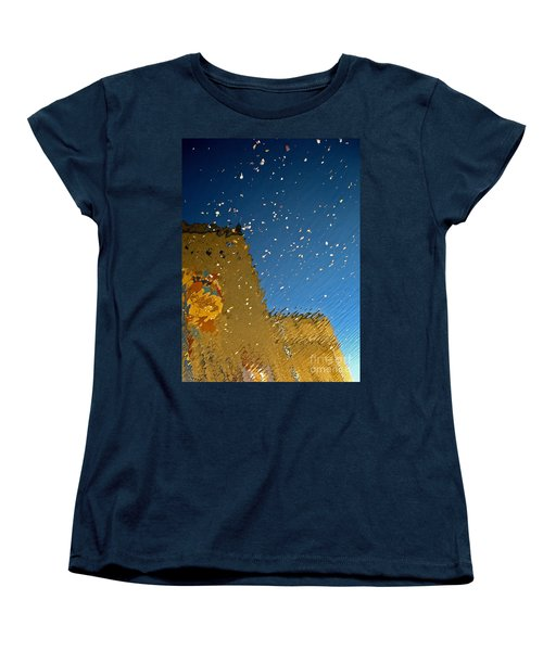 Women's T-Shirt (Standard Cut) featuring the photograph River Crossing Border Crossing by Andy Prendy
