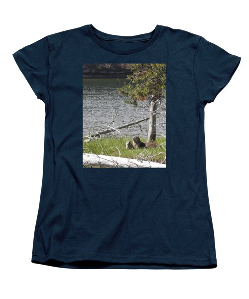 River Otter Women's T-Shirt (Standard Cut) by Belinda Greb